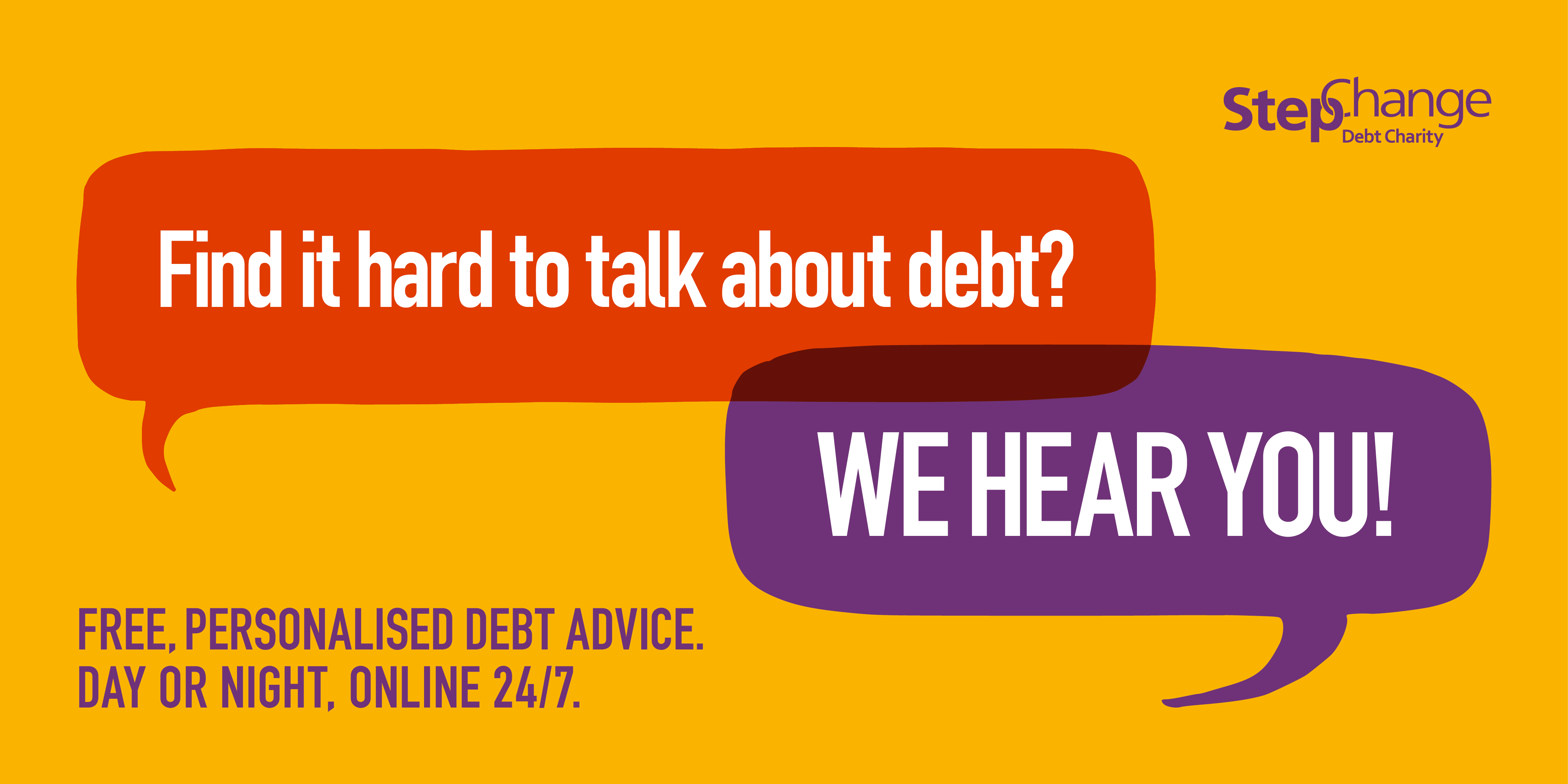 Find it hard to talk about debt? We Hear You
