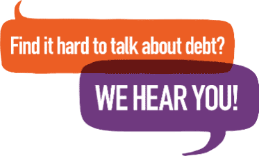 Find it hard to talk about debt? We hear you!