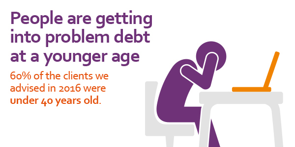stats yearbook 2016 people getting into debt younger