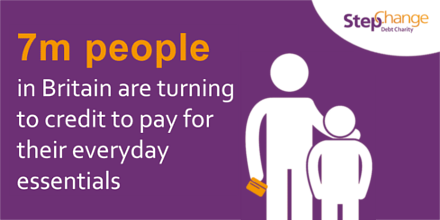7m people in britain are turning to credit to pay for everyday essentials
