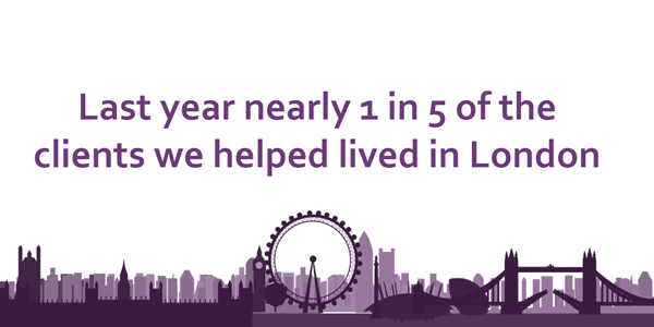 last year 1 in 5 clients we dealt we lived in london