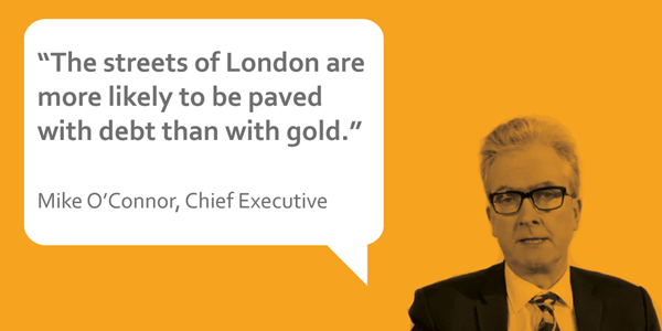 Mike, CEO stepchange quote: London streets more likely to be paved with debt than gold""