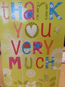 Thank you card for debt help from StepChange Debt Charity