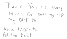 Client thank you letter for debt advice