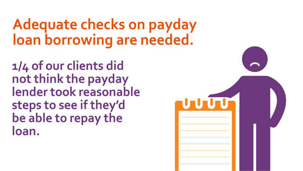 Adequate checks on payday loan borrowing are needed.