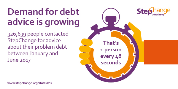 demand for debt advice is growing
