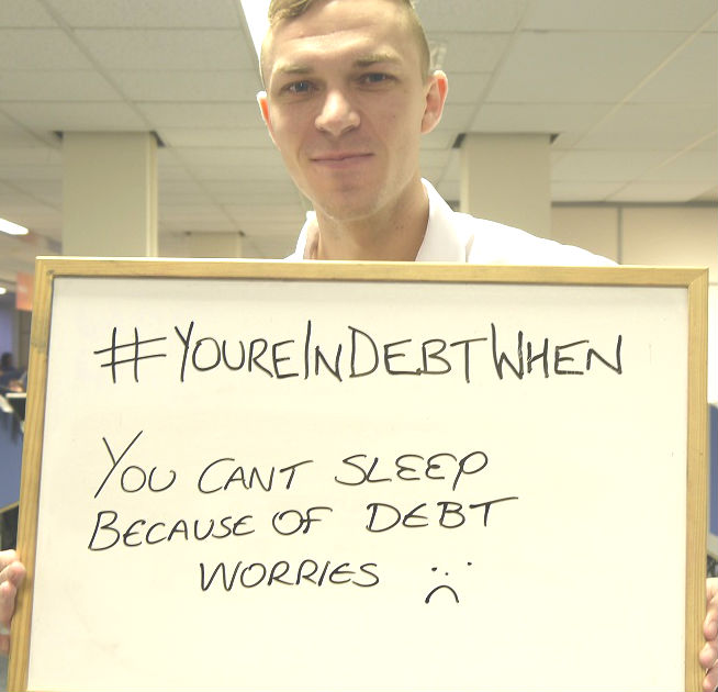 We can help if you're unable to sleep due to money worries