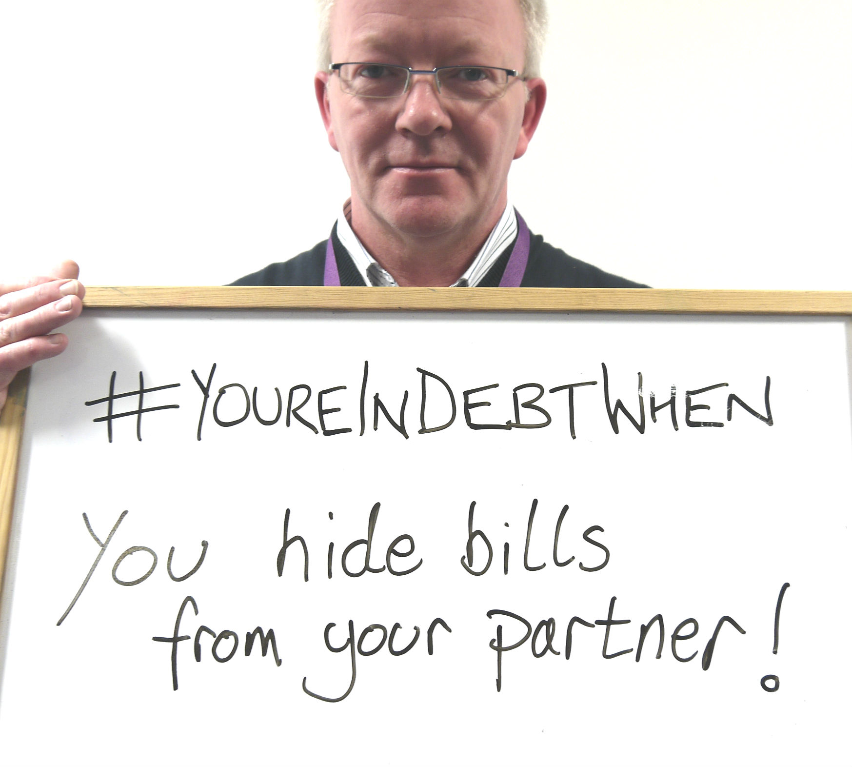Hiding bills from your partner is a danger sign of debt