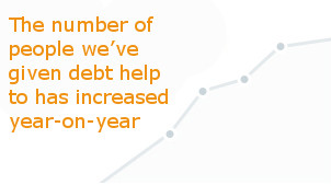 People helped by StepChange Debt Charity increased year by year